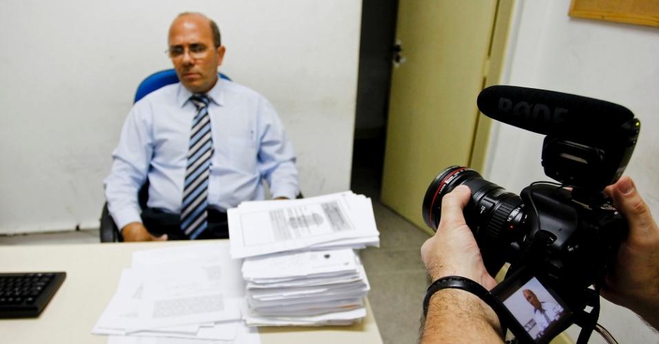 Rogério Pereira Ribeiro, delegado plantonista da 22ª delegacia de Simões Filho (BA)