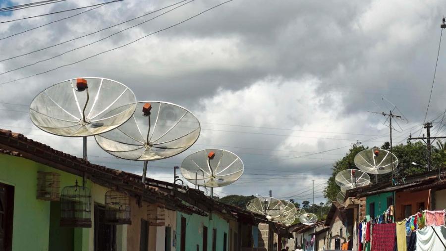 Casas de Rio Largo com TVs via parabólicas - Leandro Moraes/UOL