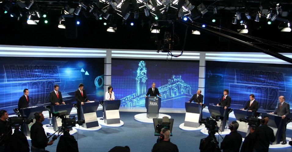Candidatos trocam ataques no debate Folha/Rede TV!