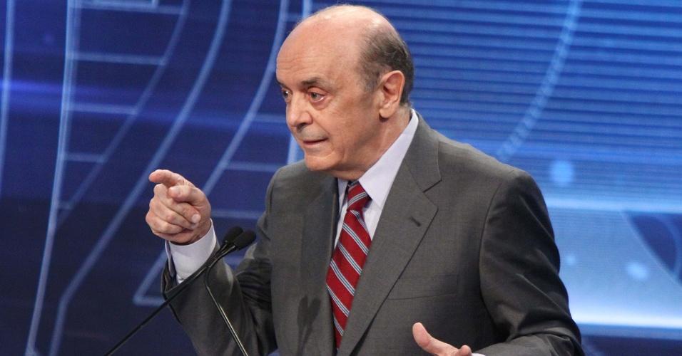 """3.set.2012 - Em meio à críticas de Gabriel Chalita sobre sua gestão na educação, José Serra diz que o candidato do PMDB """"falta com a verdade"""""""