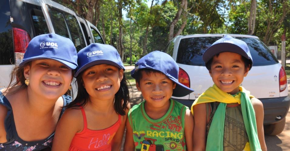 Crianças visitam o Parque Florestal de Sinop (MT)