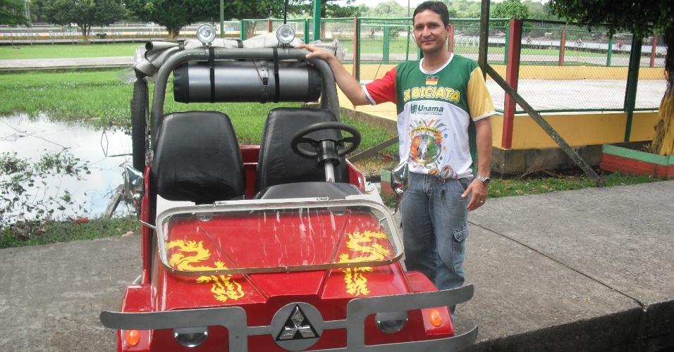 Morador de Afuá (PA) investiu R$ 10 mil para transformar um bicitáxi em um jipe