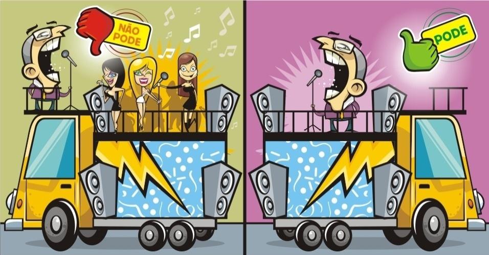 Os trios elétricos podem, desde que não sejam utilizados como instrumento para entreter ou animar os eleitores com apresentação de show artístico, sob pena de configurar showmício