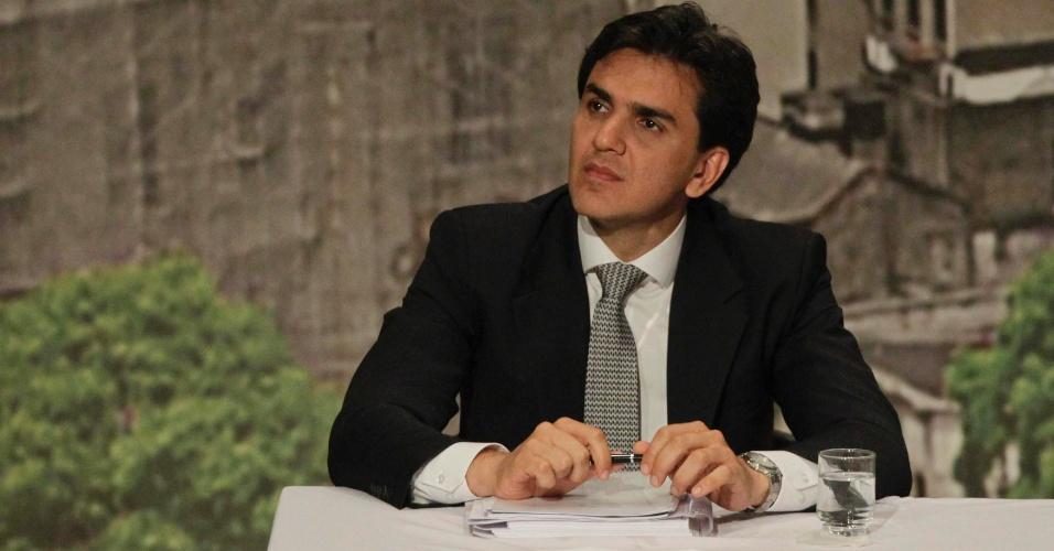 20.set.2012 - O candidato do PMDB à Prefeitura de São Paulo, Gabriel Chalita, participa de debate entre candidatos organizado pela Arquidiocese da capital
