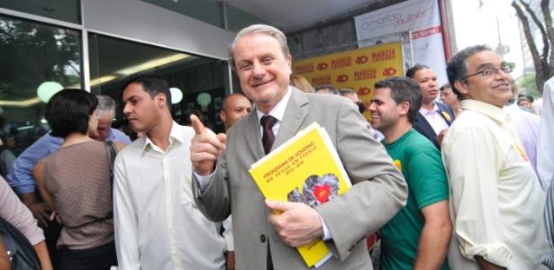 O prefeito Marcio Lacerda (PSB), candidato à reeleição, diz que está confiante na vitória no 1º turno