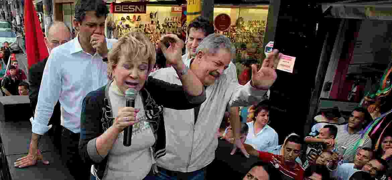 Marta Suplicy e Lula na campanha de 2012, quando Haddad venceu a disputa pela Prefeitura de São Paulo  - Jorge Araujo/Folhapress