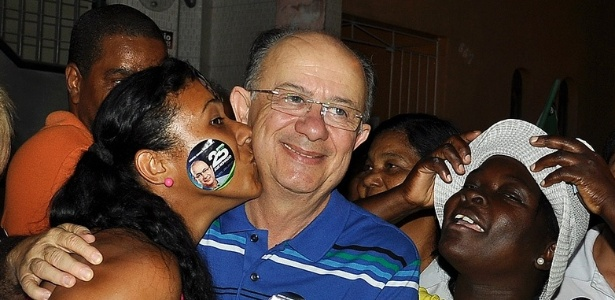O candidato do DEM, José Ronaldo, eleito prefeito de Feira de Santana no primeiro turno da eleição