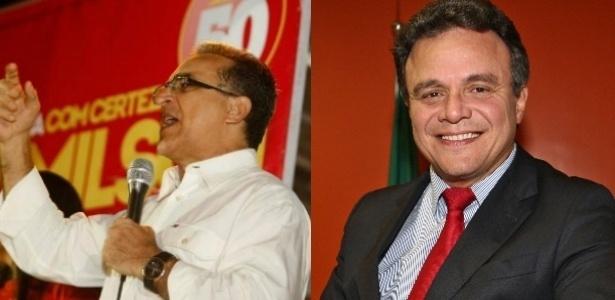 Edmilson Rodrigues (PSOL), à esq., disputará o segundo turno contra o candidato Zenaldo Coutinho (PSDB), à dir.