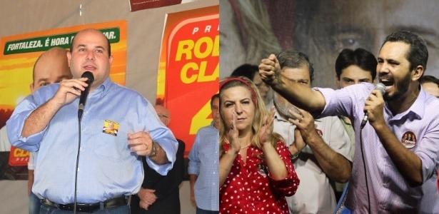 O candidato do PSB, Roberto Cláudio (à esq.) disputa o segundo turno com Elmano de Freitas (PT)