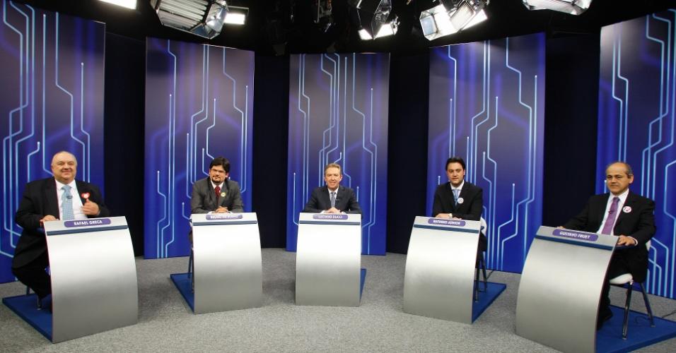 4.out.2012 - Os candidatos à Prefeitura de Curitiba participam de debate da