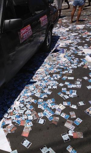7.out.2012 - O internauta Daniel Sampaio enviou imagem de Nilópolis (RJ), nos arredores de locais de votação das eleições municipais
