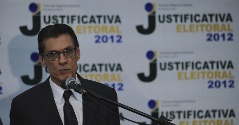 7.out.212 - O presidente do TRE-DF (Tribunal Regional Eleitoral do Distrito Federal), desembargador Mario Machado, diz neste domingo (7) que o número de justificativas eleitorais na região caiu nesta eleição