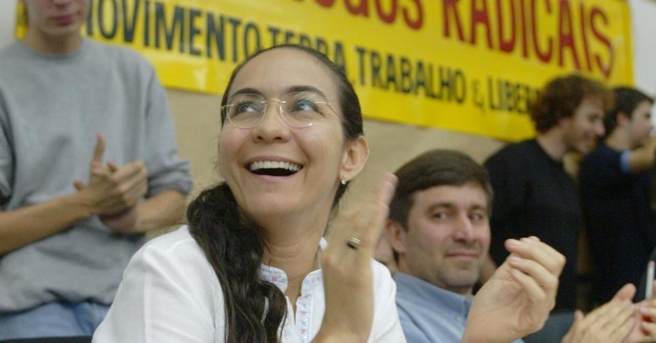 19.mar.2012 - A candidata a vereadora Heloísa Helena