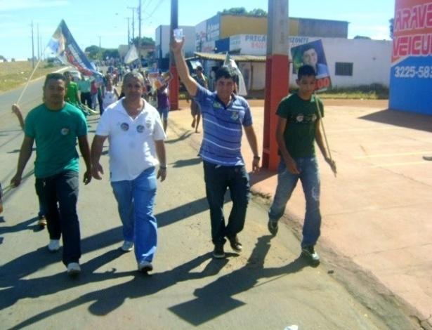 23.ago.2012 - O candidato a vereador em Palmas (TO), Rogério Freitas