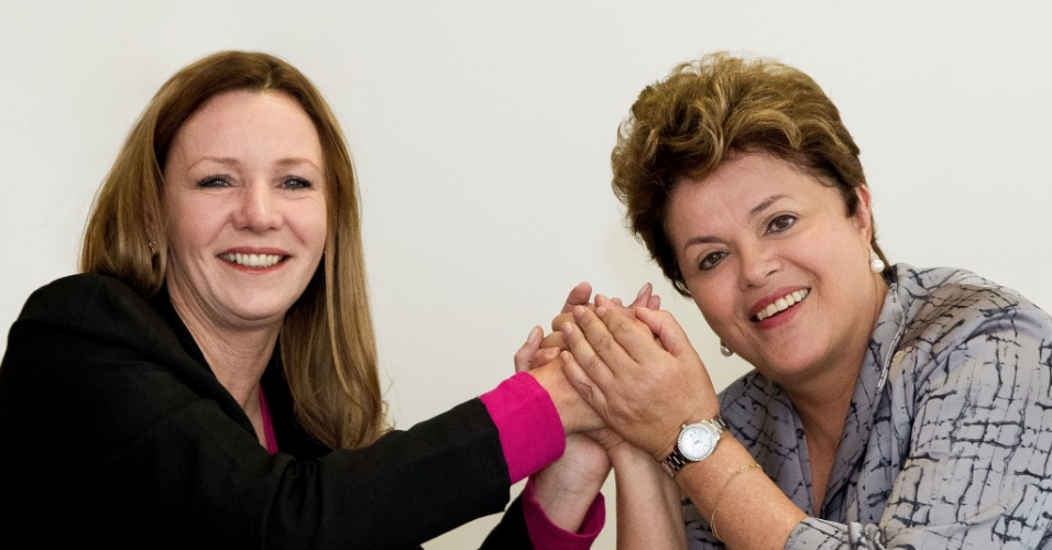 11.out.2012 - A candidata do PC do B à Prefeitura de Manaus, Vanessa Grazziotin, se reuniu com a presidente Dilma Rousseff em Brasília para confirmar sua participação em um evento de campanha de Vanessa na próxima semana