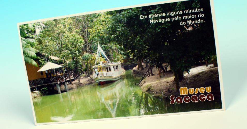 """14.out.2012 - Postal mostra o museu a cèu aberto Sacaca, em Macapá, capital do Amapá. No Estado, a reportagem do """"UOL pelo Brasil"""" esteve em Oiapoque, no extremo-norte do país"""