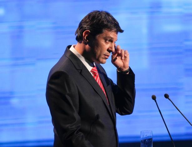 O petista Fernando Haddad, em debate na TV durante a campanha de 2012