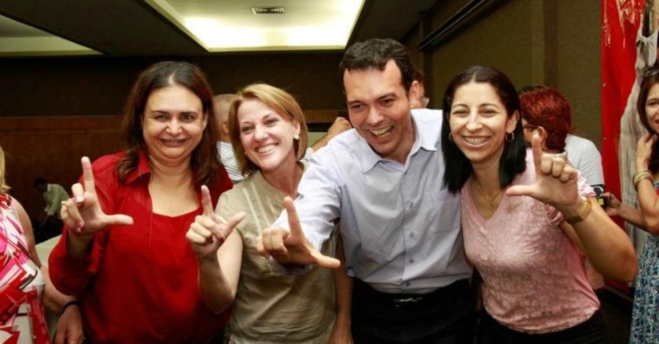 19.out.2012 - O candidato do PT à Prefeitura de Cuiabá, Lúdio Cabral, participou de encontro com profissionais da educação no Instituto Federal de Educação, Ciência e Tecnologia de Mato Grosso, no centro da cidade