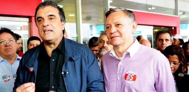 O ministro da Justiça, José Eduardo Cardozo (PT), participou de evento de campanha de Pedro Bigardi (PC do B), em Jundiaí (SP)