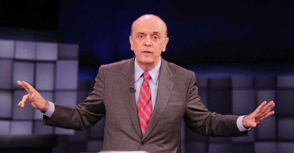 24.out.2012 - O candidato do PSDB à Prefeitura de São Paulo, José Serra, pediu direito de resposta, que não foi concedido pela organização do debate SBT UOL