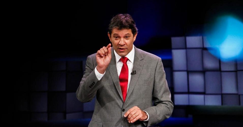 24.out.2012 - O candidato do PT à Prefeitura de São Paulo, Fernando Haddad (na foto), critica projetos da gestão que chama de
