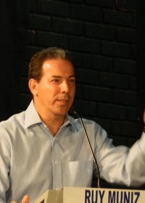 Ruy Muniz (PRB) durante campanha para a prefeitura de Montes Claros (MG)