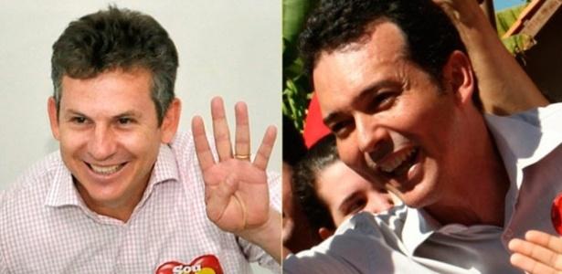 Mauro Mendes (à esq.) e Lúdio Cabral aparecem empatados na última pesquisa Ibope para o 2º turno