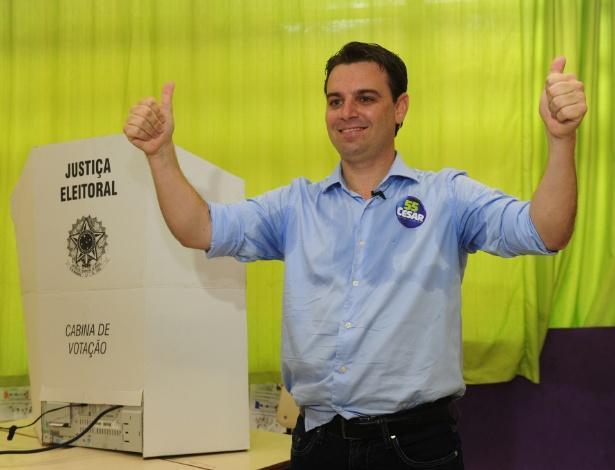 O prefeito de Florianópolis, César Souza Júnior (PSD)
