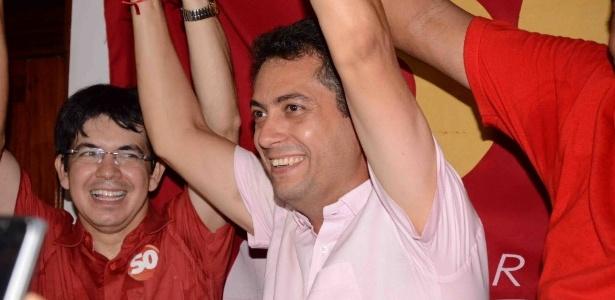 Clécio Luís, primeiro candidato do PSOL a comandar uma capital, comemora vitória em Macapá
