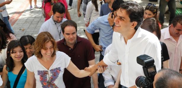 O deputado federal e ex-candidato a prefeito de São Paulo Gabriel Chalita (PMDB) votou no colégio Sion